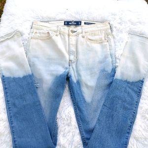 Hollister reverse dye hand crafted high rise